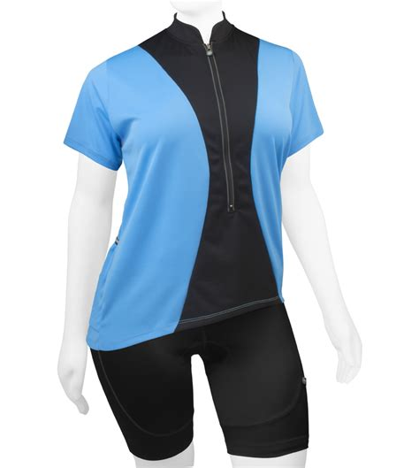 Womens Full Figure Hourglass Cycling Jersey Made In Usa