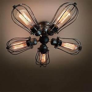 Arm industrial ceiling light edison bulb lamps