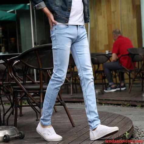 blouson jean homme pas cher moulant extensible pantalons