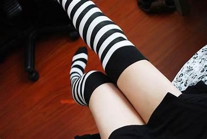 Socks Legs Striped Wallpapers Open Feet Brunette