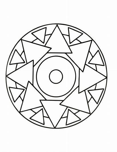 Mandala Simple Coloring Mandalas Pages