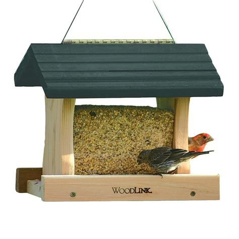 shop woodlink cedar hopper bird feeder at lowes com
