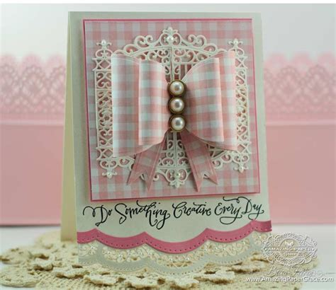 Something Creative Bow Card And Winner » Amazing Paper Grace