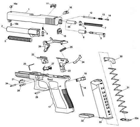 Glock 19 Part Diagram by Glock 22 Parts Diagram Wiring Diagrams Recent