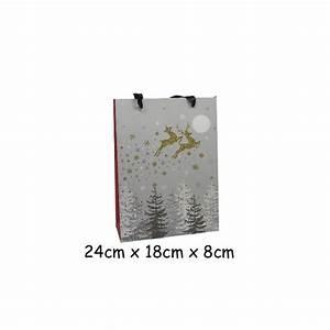 Pochette Cadeau Papier : pochette cadeau papier cartonn glac motif no l renne ~ Teatrodelosmanantiales.com Idées de Décoration