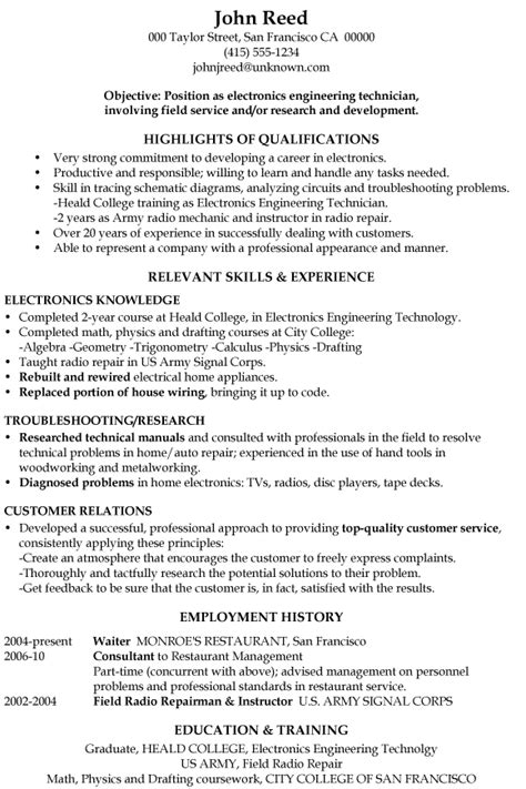 Resume Objective Examples Aircraft Mechanic