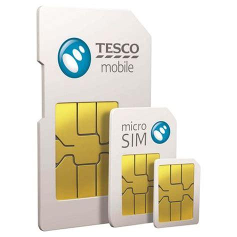 buy tesco mobile  triple credit pay    sim card