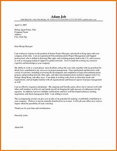 project manager job cover letter cover letter example With cover letter for project coordinator position