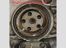 Flywheel removal warning, main seal, oil pump cover, oil