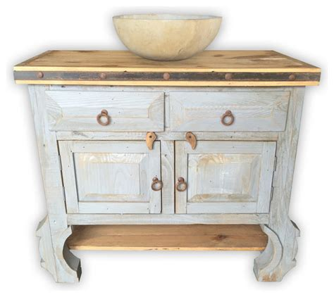 san pascual 36 quot rustic vanity vintage white asian