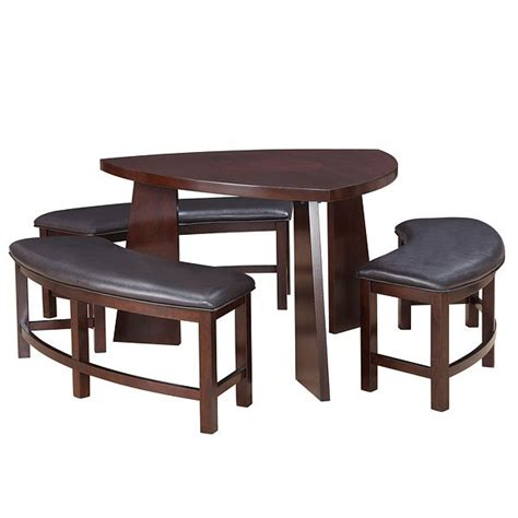 triangle dining table set 20 softly shaped curves of triangular dining tables home