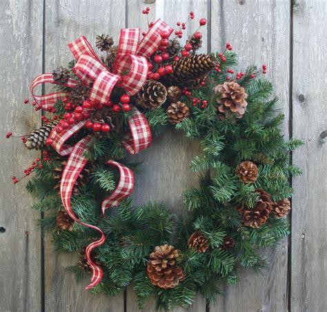 wreaths  door ornaments images  pinterest