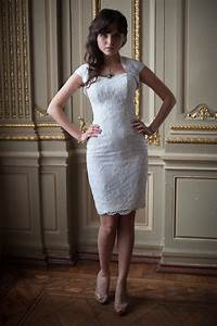 fitted style lace wedding dress white short wedding gown With short fitted wedding dresses