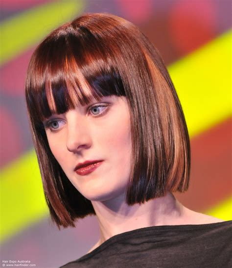 Bob Hairstyles With Bangs by Blunt Bob Hairstyles With Bangs Hairdrome
