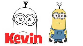 How to draw Minions from Despicable Me 2 Kevin step by step easy      Despicable Me 2 Minions Drawing