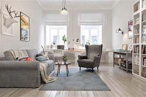 affordable dco scandinave dans un salon canap fauteuil et With parquet gris salon
