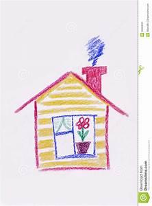 Haus Verschenken An Kind : das haus der gelb gemalte kinder kindliche zeichnung des ~ Lizthompson.info Haus und Dekorationen