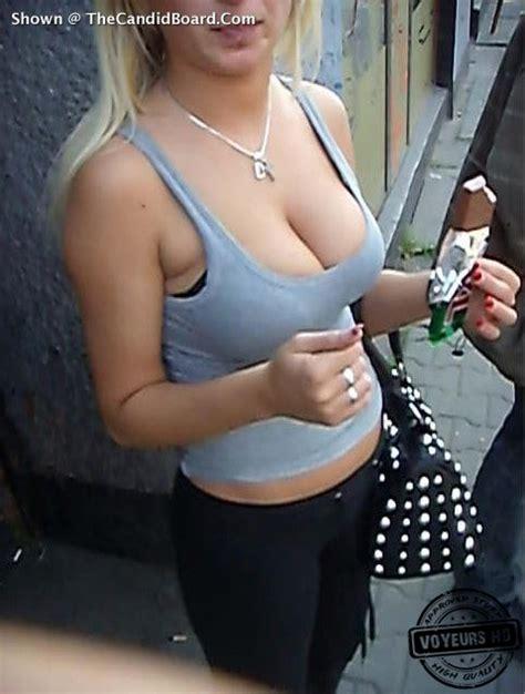 Big boobs on the street - Voyeur Videos