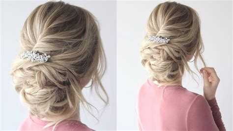 HOW TO: Messy Updo Bridal Hairstyle YouTube