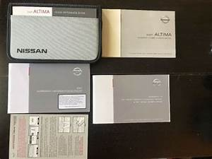 2007 Nissan Altima Owners Manual With Case Oem Free