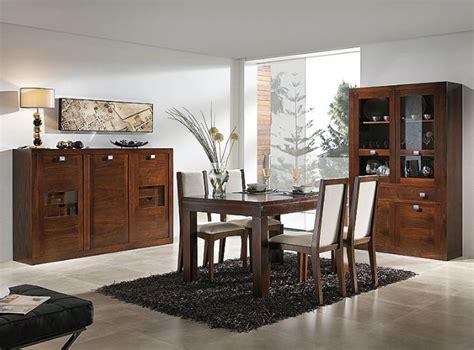 muebles  salon comedor realizados en madera de nogal
