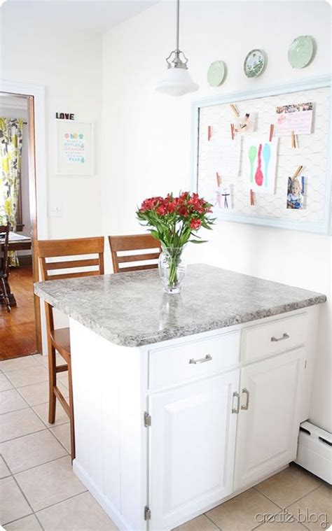 It is the finish of the kitchen island, material of choice and the shade of blue that combine to create warm and inviting mediterranean style kitchen with yellow walls and a wooden island in red. Kitchen island against wall - Love the idea of this for my ...