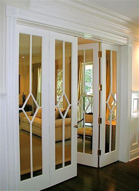 louvered bifold mirrored closet door makeover