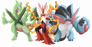 Mega Sceptile, Mega Blaziken and Mega Swampert! Which ...