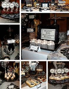 A very chic guys 50th Birthday Party   Hostest with the ...