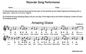 Amazing Grace Recorder Notes with Letters