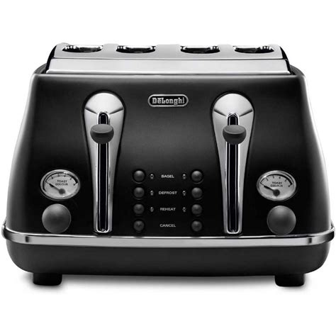 Delonghi 4 Slice Toaster by Delonghi Icona 4 Slice Toaster Black Cto4003b Big W