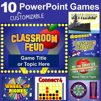 powerpoint games pack  customizable templates