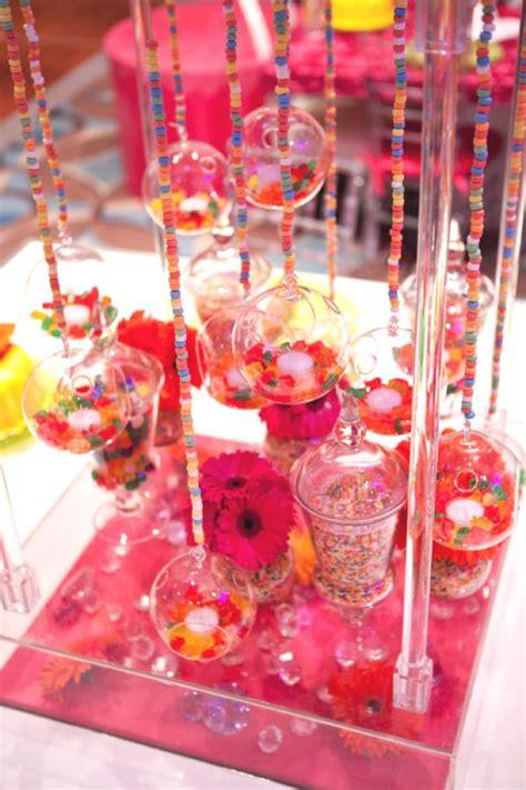 candy bar boule verre suspendues theme bonbons bonbon