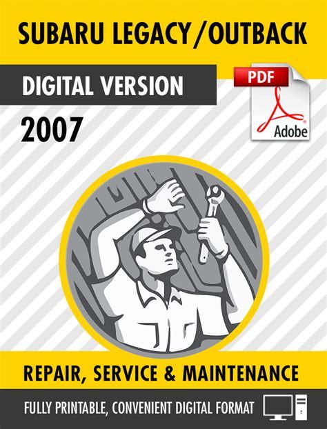 auto repair manual free download 2007 subaru legacy regenerative braking 2007 subaru legacy outback factory repair service manual s manuals