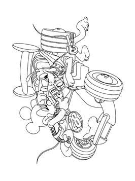 kids  funcom  coloring pages  mickey mouse  de roadster racers