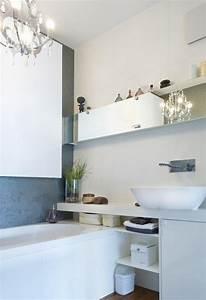Badewanne Kleines Bad : kleines bad modern einrichten badewanne waschtisch regale spiegel fronten wohnung badezimmer ~ Buech-reservation.com Haus und Dekorationen