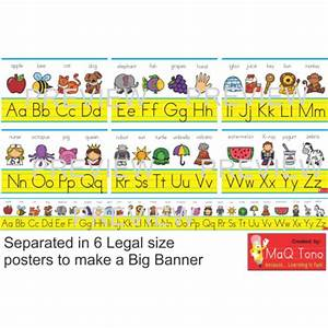 classroom decoration abc alphabet banner sign educents With abc letters for classroom