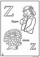 Coloring Zinnia Zipper Alphabet Preschool Letter Dari Magiccolorbook Disimpan sketch template