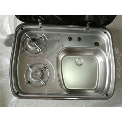 sink and stove combo rv caravan cer boating 2 burner lpg gas stove and