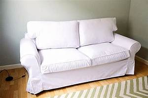 custom ikea ektorp sofa bed cover 2 seater in gaia white With ektorp two seater sofa bed