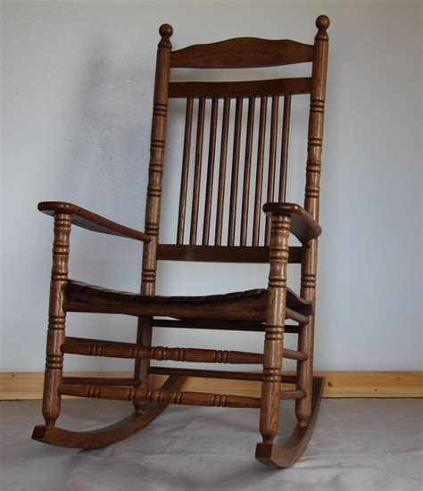 large wooden rocking chair seating studio