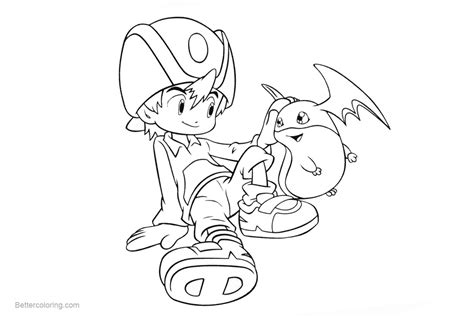 Digimon Coloring Pages Adventure