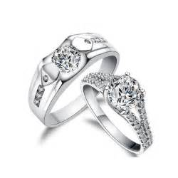 wedding ring sets his and hers cheap 3 carats his and matching antique style cz wedding
