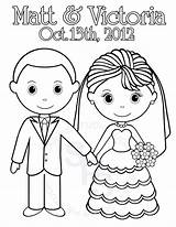 Coloring Bride Groom Printable Personalized Colouring Activity Clipart Getdrawings Library Popular Favor sketch template