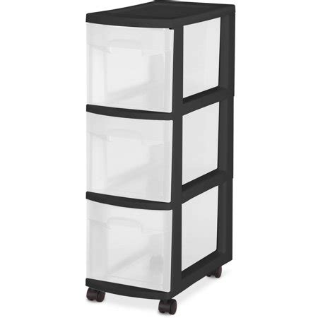 walmart storage drawers sterilite 3 drawer narrow cart black walmart