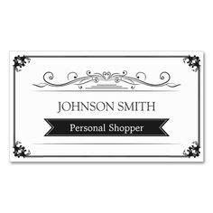personal shopper business cards images