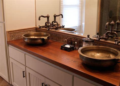 vanity countertop teak wood countertop photo gallery by devos custom