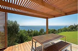 Couvrir Terrasse : terrasse ombrag e lamelle en bois de biais gilles broussard ~ Dode.kayakingforconservation.com Idées de Décoration