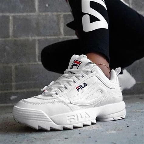 Sepatu Fila Black jual sepatu fila disruptor low white premium original