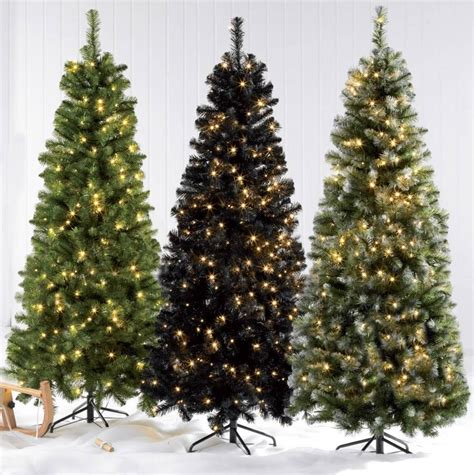 6ft 5ft 4ft deluxe pre lit led xmas frosted green black